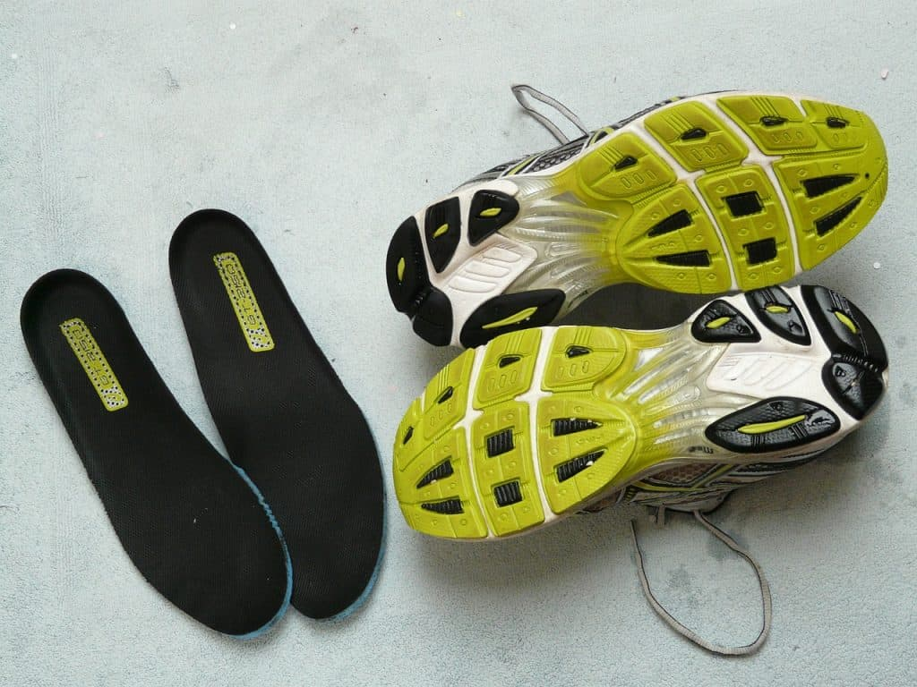 running shoes and inserts